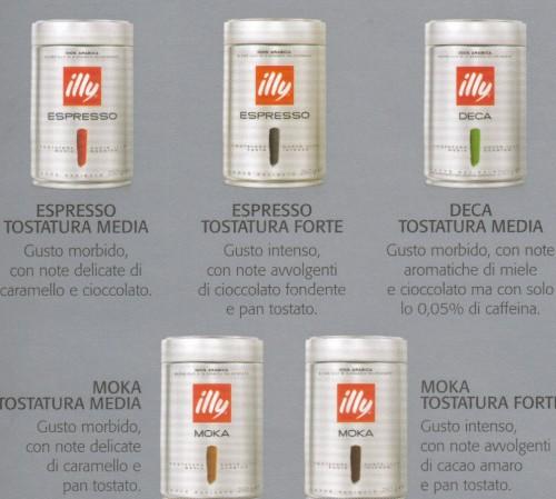 CAFFE',ECCELLENZA,ILLY,BARATTOLO,MISCELA,TOSTATO,MACINATO,GRANA,DECAFFEINATO,