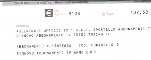 Canone tv el parl va de per l - Abbonamento rai pagamento ...
